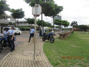 METRO POLICE AT THE POINT PRECINCT